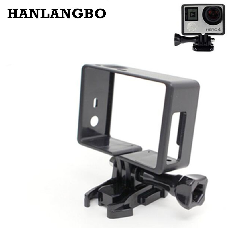 أكشن عمل الكاميرا من GoPro Hero 3 3+ 4 Standard Frame Frame Housing Case Basic Screw Mount for Go Pro Hero 3 3+