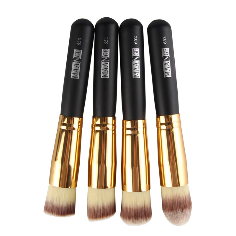 2017 New 4 pcs Makeup Brush Set Blush Foundation Contour Powder Cosmetic Multifunctional Brush Tool High Quality in Eye Shadow Applicator from Beauty Health