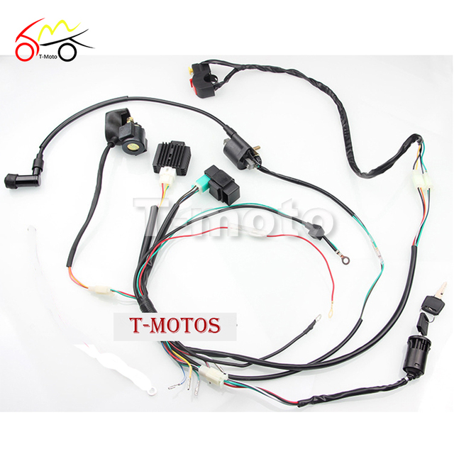 new motorcycle cdi wiring harness loom ignition solenoid coil rh aliexpress com