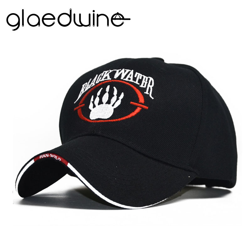 Glaedwine Brand NEW Fashion   baseball     caps   Black Water Hats Casual Outdoor Sports Snapback US Army   Cap   hats for men gorra hombre