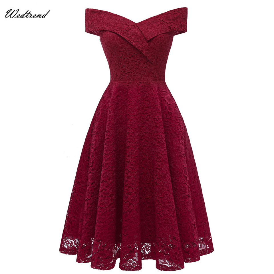 Wedtrend Burgundy   Cocktail     Dresses   Elegant Formal Party   Dress   2019 Short Vestidos Sexy Women Homecoming   Dresses