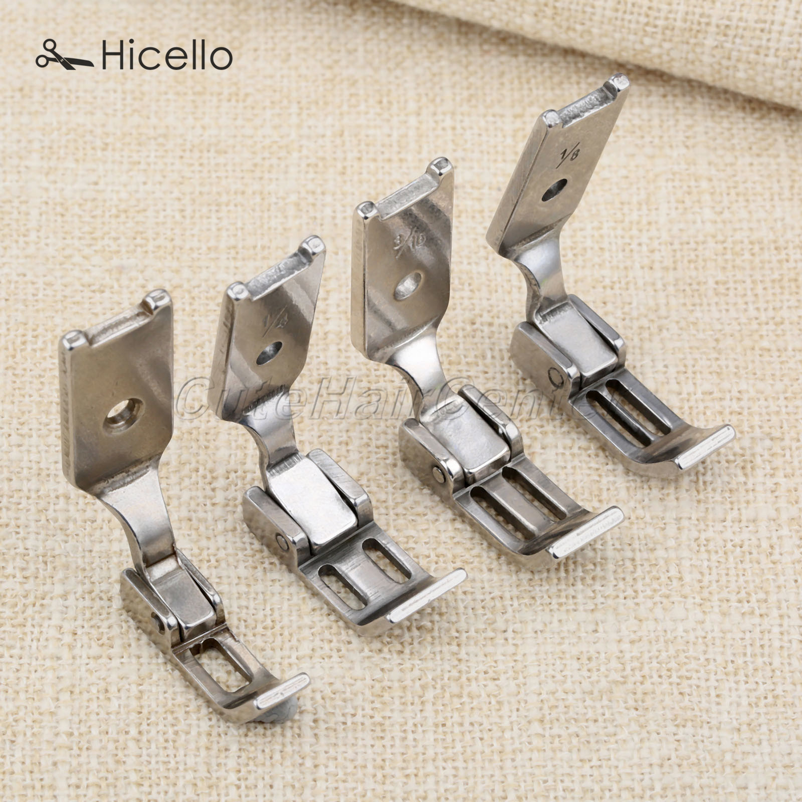 Industrial Sewing Machine Spare Parts Zipper Presser Foot Two Needle Car Steel