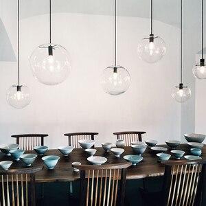 Image 5 - NASN LED ارتفع الذهب الزجاج قلادة أضواء كرة زجاجية تعليق مصباح بريق تعليق أضواء المطبخ تركيبات المنزل مصابيح تعليق للزينة E27