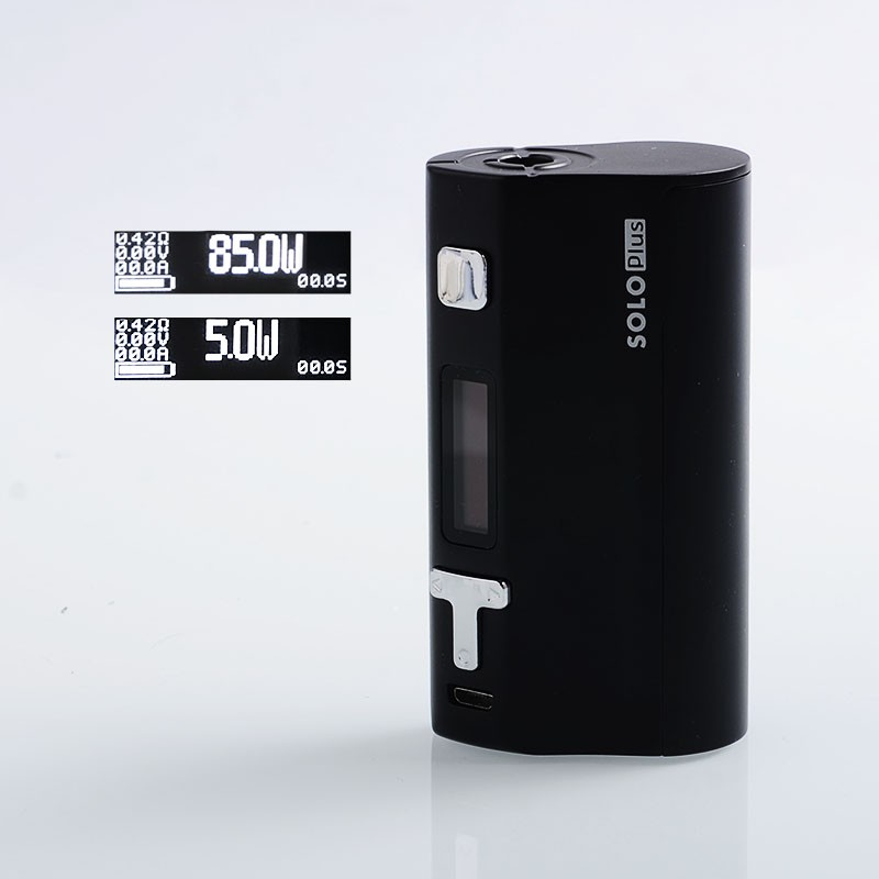 Original Ijoy Solo Plus 85W TC Temperature Control Single 26650 VW Variable Wattage Box Mod Vape Mod
