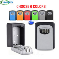 4 Digit Metal Outdoor Gun Safe Key Boxs Password Key Storage Organizer Boxes Security Lock Box Wall Mount Hidden Secret Safe Box