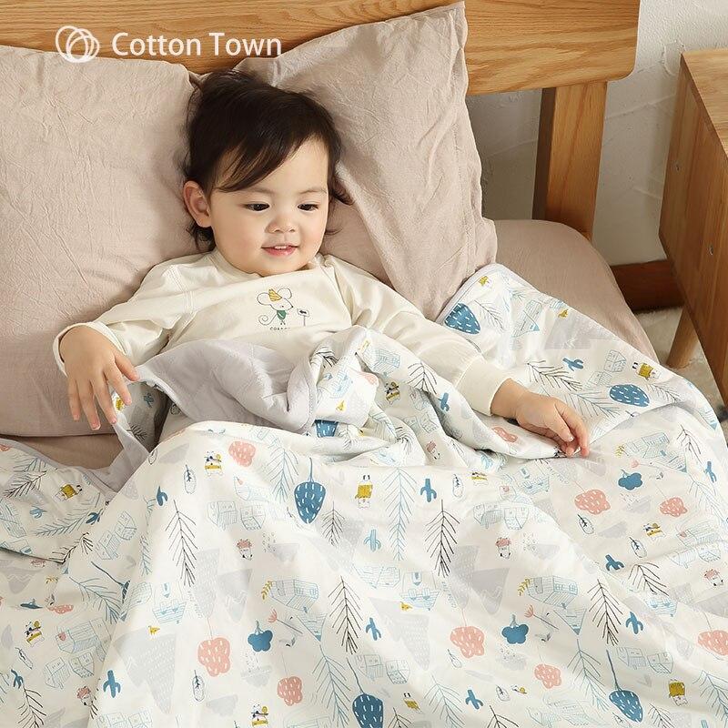 Cottontown bébé couverture de couchage couette coton 2019 printemps été enfants bébé couverture nouveau-né nourrissons couverture de couchage
