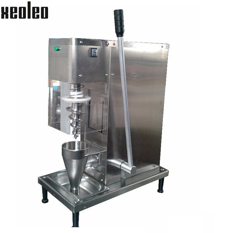 Xeoleo Fruit Ice cream Swirl Freeze Yogurt mixer CE approved 220V/110V  fruit frozen Ice cream mixing machine self-cleaning fruit ice cream feeder from factory selling gelato fruit nuts mixer