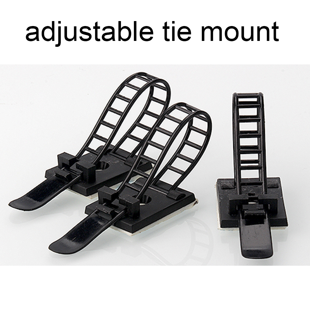 Cable Tie Mounts 10pcs Cable Clips 18*25 Clamp For Wire Tie Cable Mount Adjustable Cable Tie Fix Holder Clips White Black