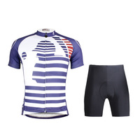 Ilpaladino סגנון חדש ביגוד רכיבה על אופניים של גברים קצר לבן פסים כחולים מגניב confortable sleeveain אופני רכיבה על אופניים חולצה