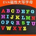 2016 chegam Novas EVA oversized Inglês letras minúsculas letras maiúsculas magnético lousa magnética ímã de geladeira Adesivos