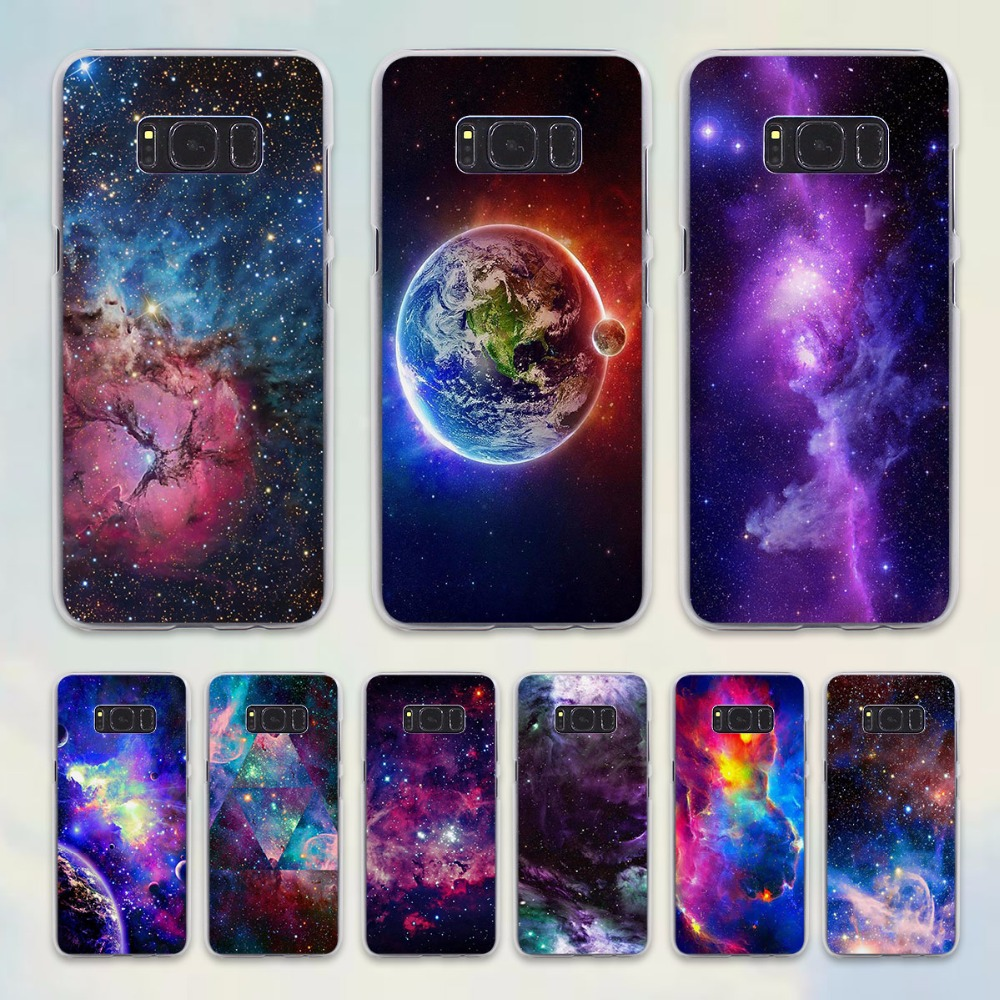Moon Space Map Marble Stone Design Hard Transparent Case