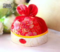 Mopopo NewBorn Baby Girl Cap Chinese Traditional Baby Girl Hat China Style Tang New Born Photography Props Kids Hat Baby Props