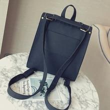 High Quality Vintage Women Backpack Black Pu Leather Backpacks For Teenage Girls Female School Shoulder Bag Bagpack Mochila
