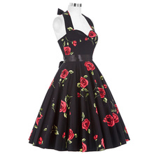 Belle Poque Vintage Dresses 50s 60s Plus Size Clothing 2017 Party Robe Vintage Retro Rockabilly Floral Swing Women Summer Dress