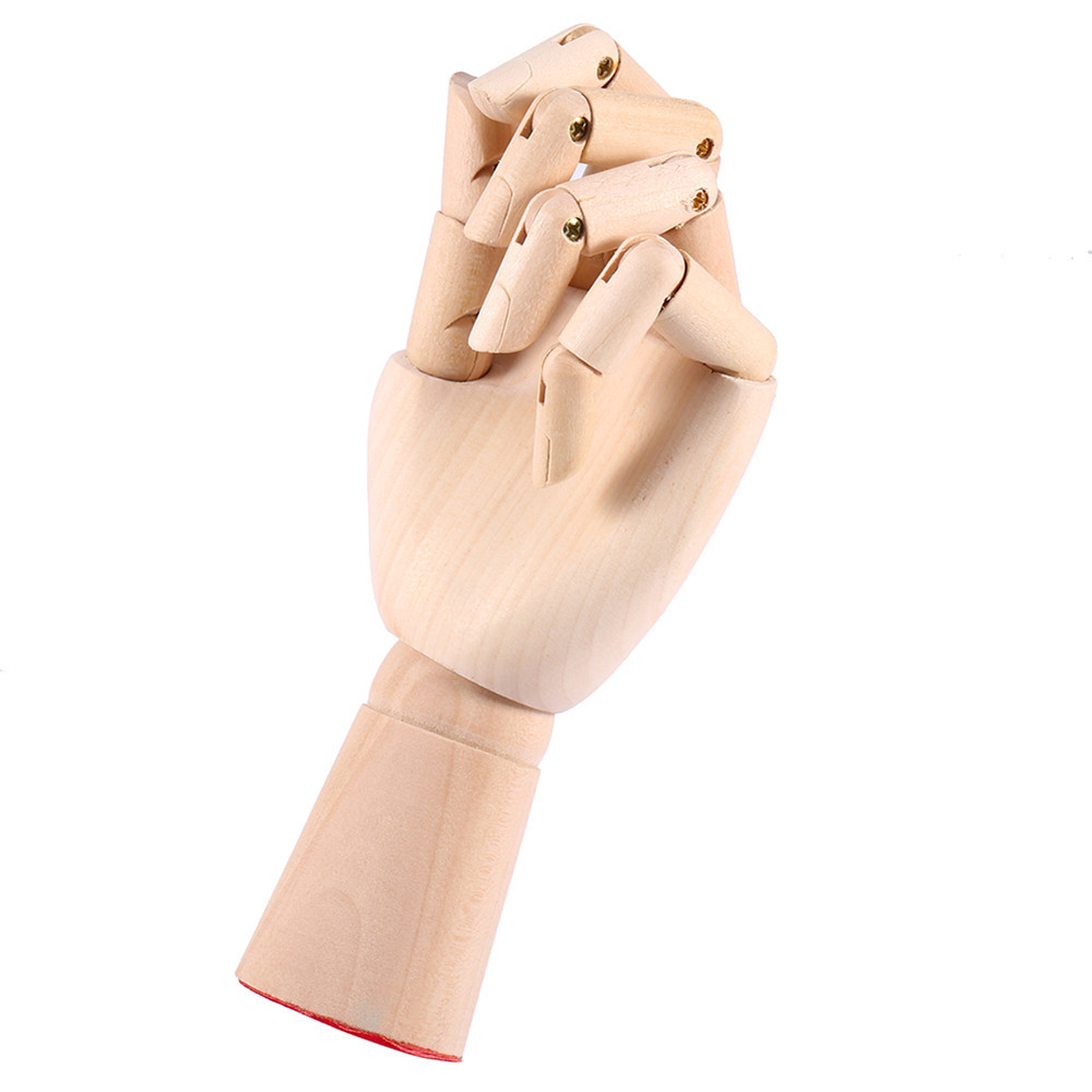 1 Piece 20/25/30cm Wooden Hand Drawing Sketch Mannequin Model Wooden Mannequin Hand Movable Limbs Human Artist Model