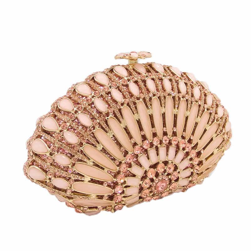 Бутик De FGG выдалбливают павлин хвост женские хрустальные вечерние сумочки-косметички свадебные коктейльные дамские сумочки и кошельки вечерние клатчи