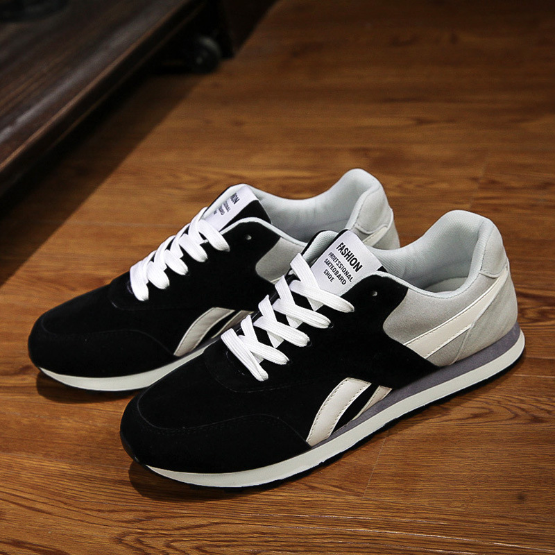 Classic new sports shoes flat breathable walking jogging shoes men British style Outdoor comfort running shoes chaussure homme