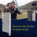 Para 6 6 s plus Retráctil Handheld autodisparador Palanca De Aluminio Cubierta Del Teléfono bolsa shell funda para iphone 6 6 s caja del teléfono selfie stick