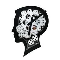 Brain Stype Wall Clock Mechanical Gear Dynamic Design Quartz Gear Wall Watches Clcok for Living Bedroom