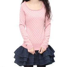 2017 Classic Lovely Pink Polka Dots loose and comfortable A little elasticity winter thickening female Cashmere sweater