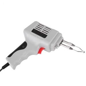 Image 4 - Pistola de ferro para solda, venda de pistola de ferro de solda elétrica pistola de ar quente calor ferramenta de solda à mão com fio de solda kit de ferramentas de reparo de solda eu 220v 100w