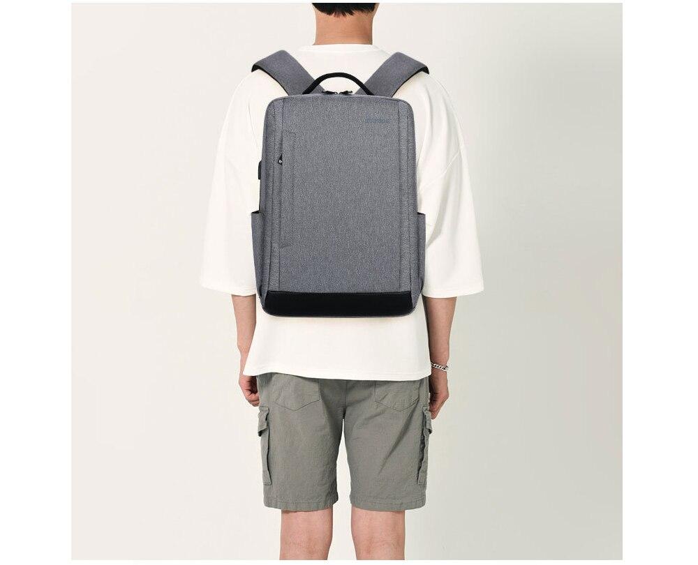 High Quality 15.6 inch USB Charging Canvas Laptop Backpack Men Women Backpacks Travel Shoulder Bags School Bags Unisex