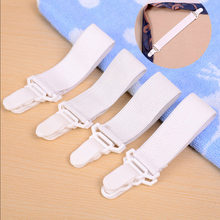 2017 New Arrival High Quality 4 x20cm Bed Sheet Mattress Cover Blankets Grippers Clip Holder Fasteners Elastic Set(China)
