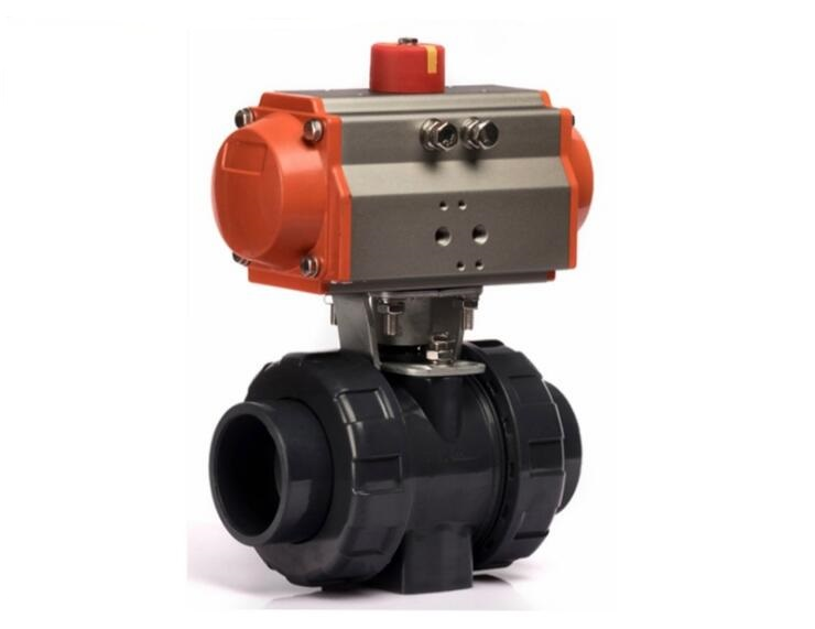 Dn pneumatic operated plastic cpvc ball valve in