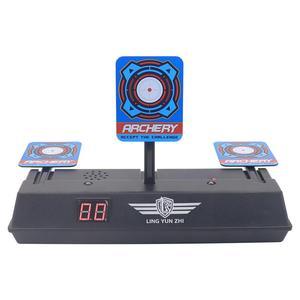 Image 3 - Puntaje de reinicio automático desmontable objetivo de disparo eléctrico para Nerf lanzador de cuentas de Gel accesorios de bola de pintura