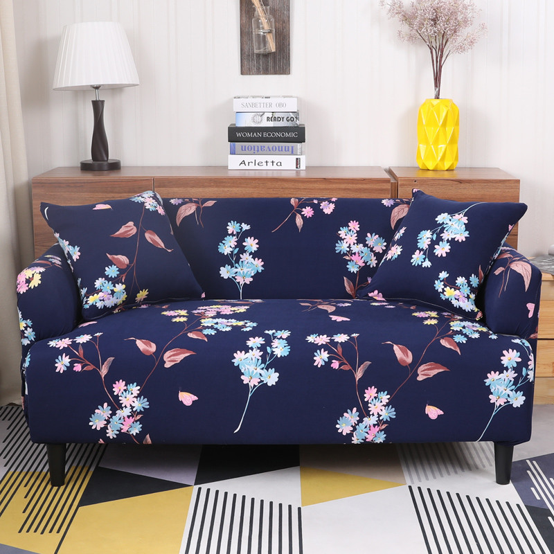 16colors Modern Printed Sofa Cover For Living Room Single