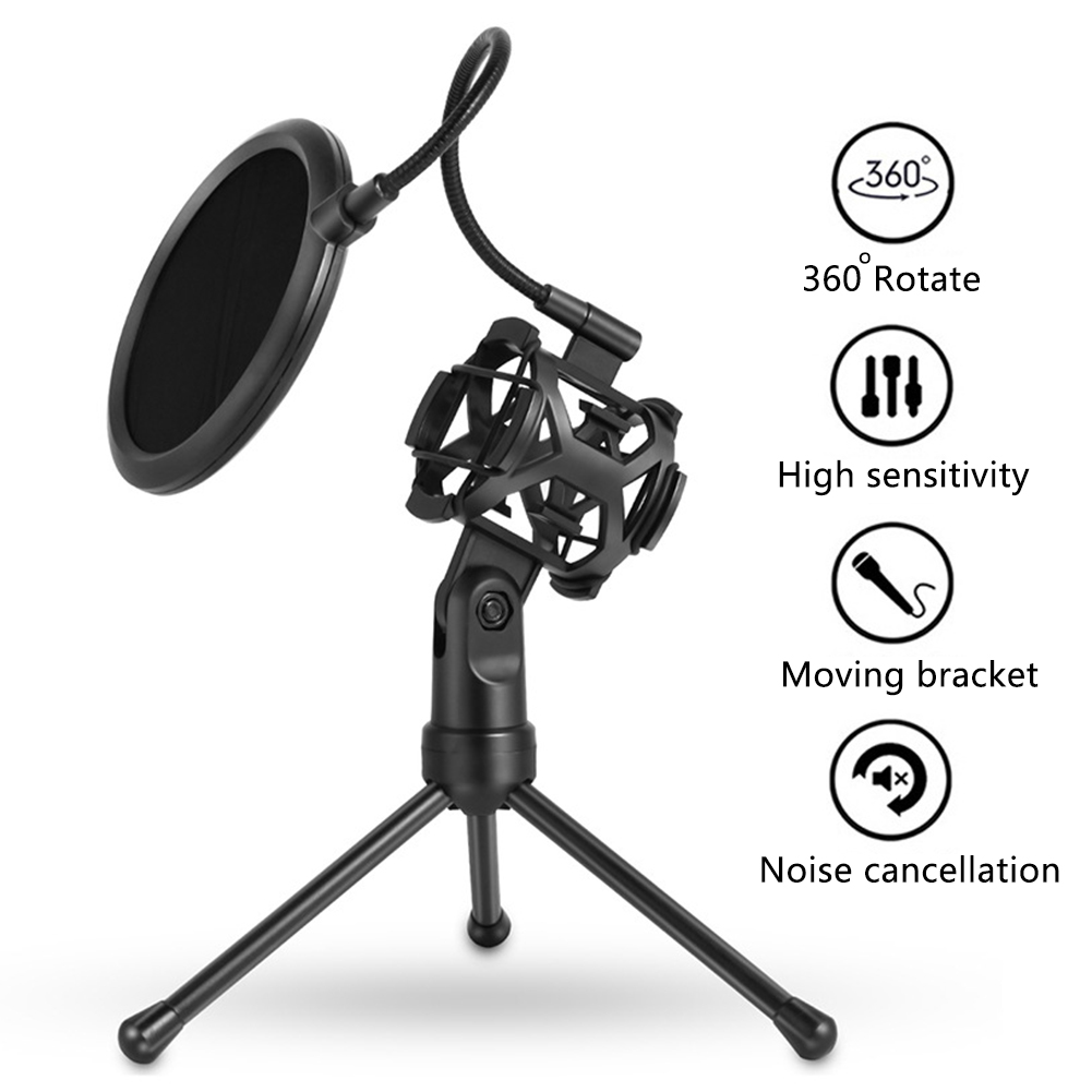 Unterhaltungselektronik Herzhaft Mikrofon Halter Stick Desktop Stativ Anti-spray Net Kit Mikrofonstativ