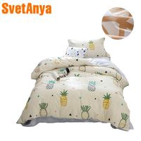 2018 New Fruit Pineapple Kids Children Bedding Set Cotton Twin Size 3Pcs Print Duvet Cover Set Flat Sheet Pillow Cases