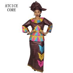 african dresses for women 100% COTTON NEW AFRICAN FASHION DEISGN BAIZN RICHE EMBROIDERY traditional african clothing