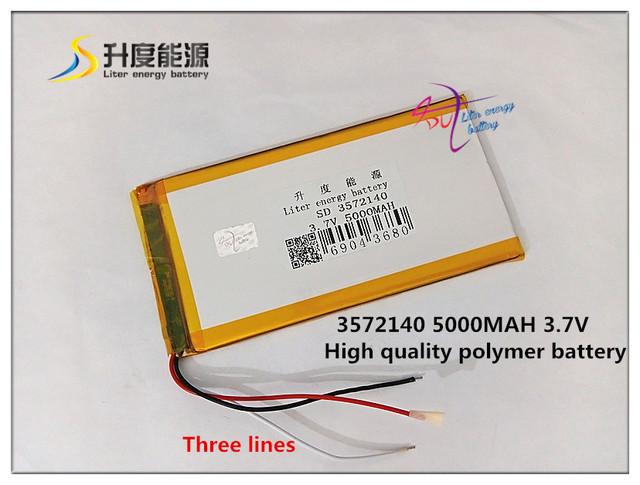 3.7 v 5000 mah 3572140 (bateria de iões de lítio polímero) para tablet pc para pipo cube ainol onda