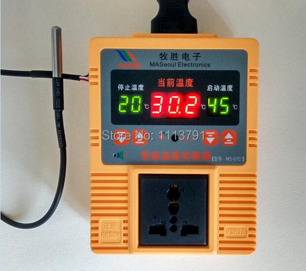 Electronic temperature control device, the number of microscopic computer smart thermostat, highprecision temperature controller