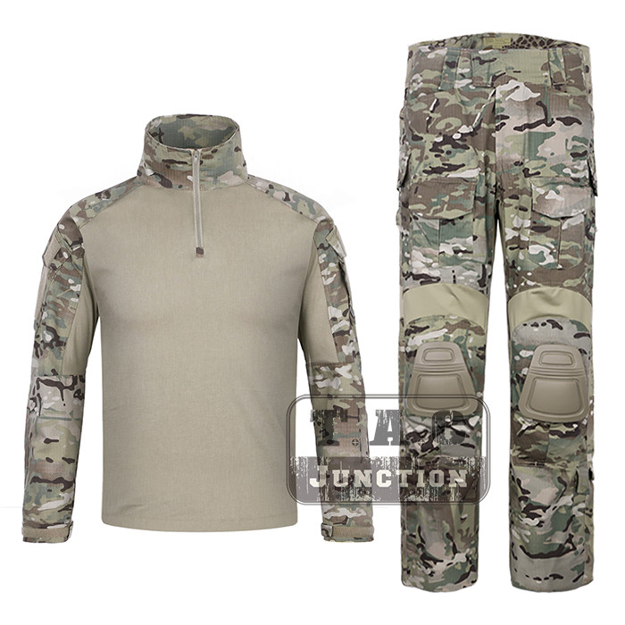 EmersonGear G3 Combat Unitform EmersonTactical BDU Camouflage Shirt Pants for Military Airsoft Hunting Multicam