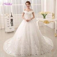 Dreagel Glamorous Appliques Chapel Train Ball Gown Princess Wedding Dresses 2017 Luxury Crystal Sweetheart Bride Robe