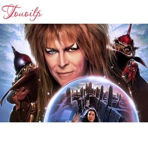 Touoilp 5d diamante bordado ponto quadrado de cristal & conjuntos decorativos do David Bowie 5d pintura diamante 5d diamante redondo montanha