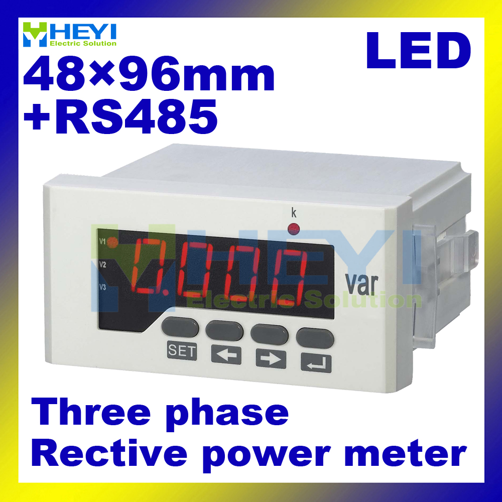 LED digital 3 phase Reactive power meter with RS485 communication 48*96 mm Class 0.5 three phase digital panel meters