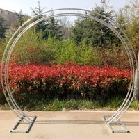 New Arrival Wedding Decoration Arch Stand Store Opening Flower Frame Galvanized Shelf O and U two Shape Available