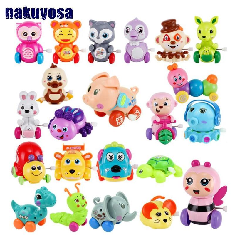 New Baby Toys Creative Chain Clockwork Toy Children Cartoon Giraffe/car /octopus/panda/dinosaur Animal Chain Small Toy Child Toy