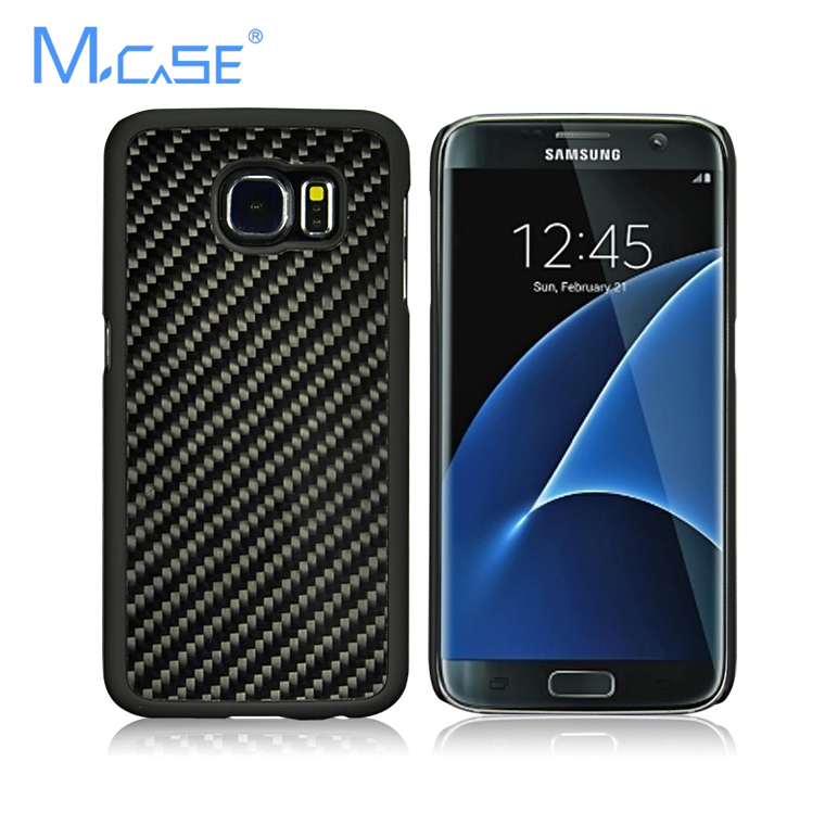 bilder für Mcase real carbon fiber case abdeckung mit pc zurück case für samsung galaxy s7 soft touch fest phone case shell für galaxy s7 edge