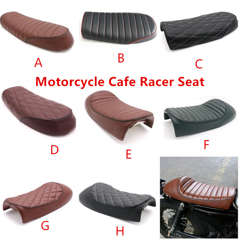 Motorcycle Cafe Racer Seat Flat Saddle For BMW R100RS Honda GB Suzuki GS450L GT500 T500 Kawasaki KZ Z750 Yamaha XJ