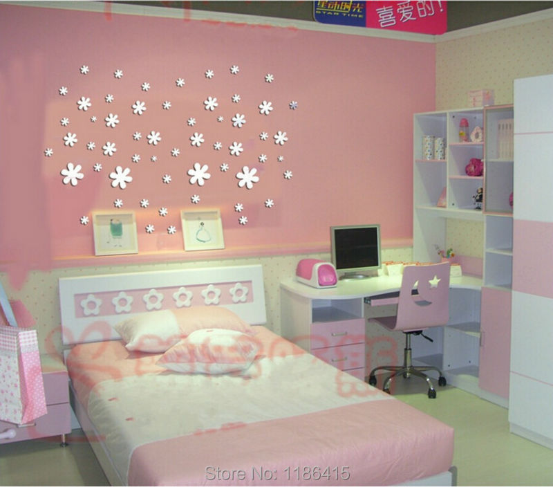 New 2014 Home Decor Snowflake Window Glass 3d Mirror Sticker Cabinet Christmas New Year Decoration Wallpaper Living Room For Kid In Wall Stickers From Home