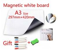 A3 Размеры Магнитная школьная белая доска магниты на холодильник стены наклейки доски для детей Офис сухого стирания доска белый Панели