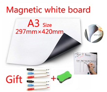 A3 Size Magnetic School White Board Fridge Magnets Wall Stickers Whiteboard for Kids Home Office Dry-erase Board White Boards whiteboard erasers dry erase marker white board cleaner wisser wipes school office accessories supplies
