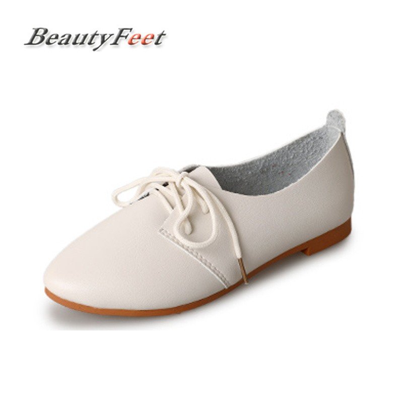 BeautyFeet Women Shoes Casual Ballet Soft Patent Leather Loafers Slip On Woman Flats Shoe Flexible Peas Footwear Large Size zoqi shoes woman candy colors genuine leather women casual shoes 2018fashion breathable slip on peas massage flat shoes size 44