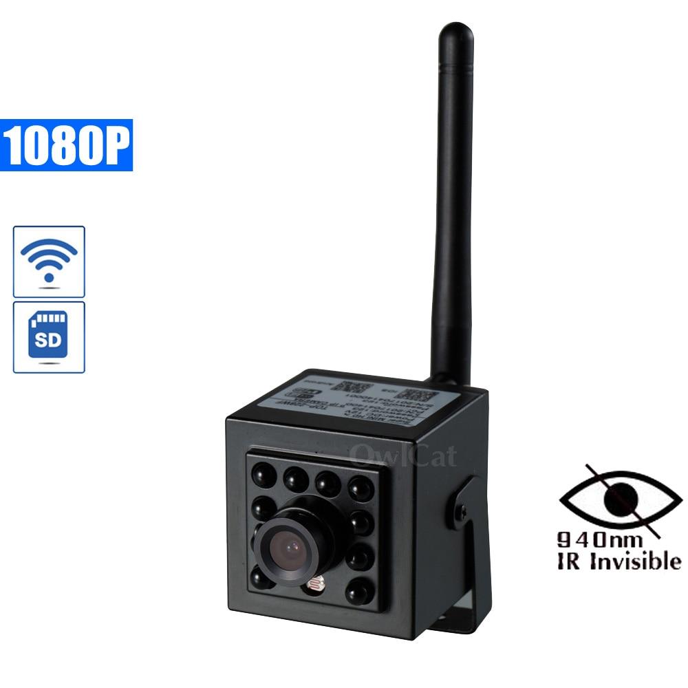 OwlCat HD1080P IP caméra WiFi SD Slot 2.0MP sécurité CCTV Mini Wifi caméra alarme Buzzer pousser téléphone APP Email alarme Invisible IR