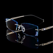 Prescription Glasses alloy screwless eyewear frame men gradient diamond cutting finished EMI MR-8 or MR-7 lenses myopia glasses 550t100g5r5b d sub backshells non emi split bs top rear moun mr li