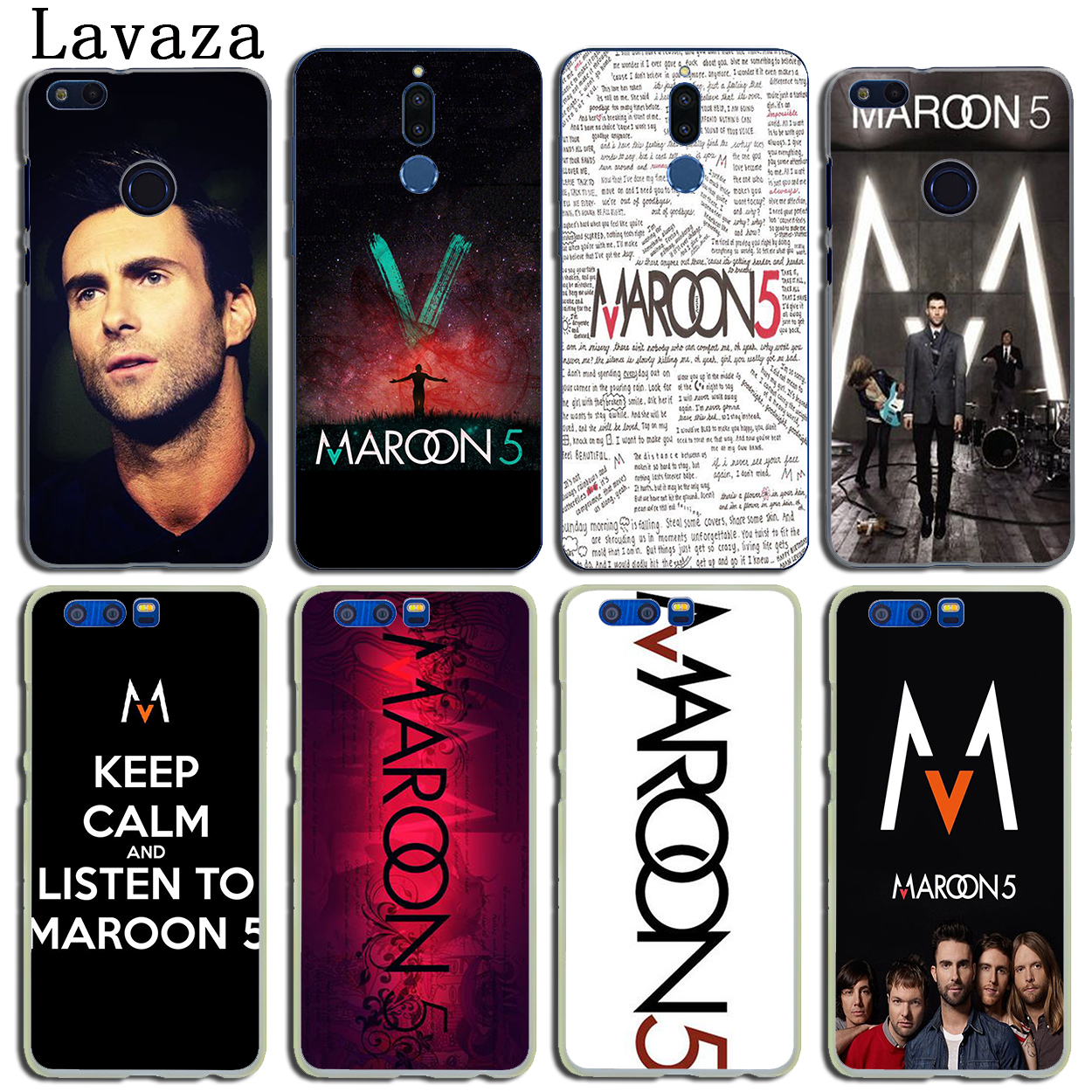 Lavaza maroon 5 Hard Phone Case for Huawei Y6 Y5 Y3 II Y7 2017 2018 Nova 2 Plus 2S 2i Honor 10 9 8 Lite 7 7X 6 6A 6X 6C Pro